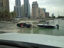 Dubai boat Sunday pickup Stock Image