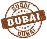 Dubai brown grunge round stamp Stock Photo