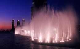Dubai-Brunnen Lizenzfreie Stockfotos