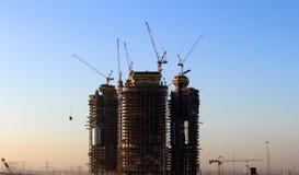 Dubai building construction Stock Photography