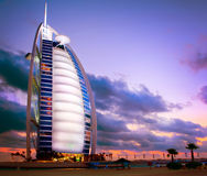 Dubai. Burj Al Arab hotel stock photography