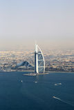Dubai Burj Al Arab Hotel aerial view photography Royalty Free Stock Images