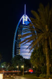 Dubai Burj Al Arab hotel palms Stock Photography