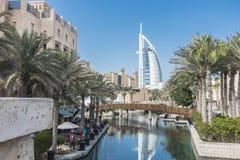 Dubai. Burj Al Arab hotel. DUBAI, UAE. Burj Al Arab hotel in Dubai. Burj Al Arab is a luxury 5 stars hotel built on an artificial island Stock Image