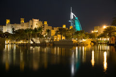 Dubai Burj al Arab from Madinat Jumeirah Stock Photography