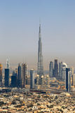 Dubai Burj Khalifa building Downtown aerial view photography Royalty Free Stock Photography