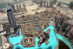 Dubai * Burj Khalifa * downtown Stock Photo