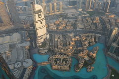 Dubai-Burj Khalifa sikt Arkivbilder