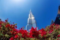 Dubai with Burj Khalifa, tallest skyscraper in the world, UAE Stock Image