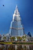 Dubai with Burj Khalifa, tallest skyscraper in the world, UAE Stock Photography