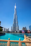 Dubai with Burj Khalifa, tallest skyscraper in the world, UAE Royalty Free Stock Photography