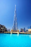 Dubai with Burj Khalifa, tallest skyscraper in the world, UAE Royalty Free Stock Images