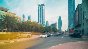 Dubai business area 4k time lapse Royalty Free Stock Image