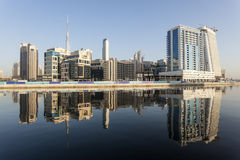 Dubai Business Bay Stock Photo
