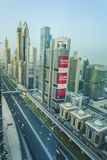 Down town Dubai. Dubai is a bustling city which has grown from the desrt in the last 40 years Royalty Free Stock Photo