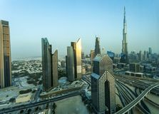 Down town Dubai. Dubai is a bustling city which has grown from the desrt in the last 40 years Royalty Free Stock Photos