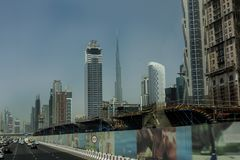 Down town Dubai. Dubai is a bustling city which has grown from the desrt in the last 40 years Stock Photos
