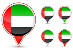 Dubai buttons. Set of dubai buttons isolated on white background Stock Photography