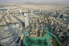 Dubai byggnader Arkivfoto