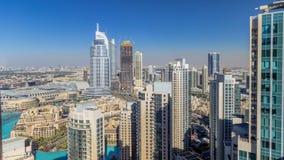 Dubai céntrico durante todo el día timelapse almacen de video