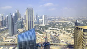Dubai center high view time lapse stock video footage