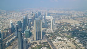Dubai center sunny shadows time lapse stock footage