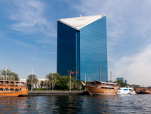 Dubai Chamber of Commerce, DCCI, the Creek in Dubai Royalty Free Stock Images