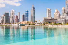 Dubai city. Buildings in the city of dubai, UAE Royalty Free Stock Image