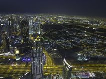 Night city view from top Stock Images