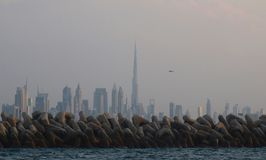 Dubai City and Burj khalifa  Stock Image