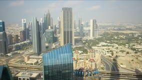 Dubai city day light 4k time lapse stock video