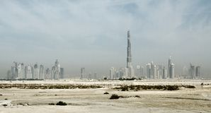 Dubai City - Emerging from the Desert Stock Images