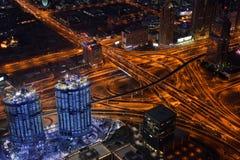 Dubai city in evening Royalty Free Stock Image