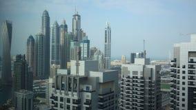 Dubai city high buildings view 4k time lapse uae Stock Image