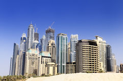 Dubai city, Marina District Stock Images