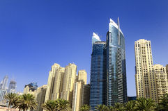 Dubai city, Marina District Royalty Free Stock Photography