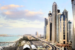 Dubai city, Marina District Stock Photography