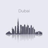 Dubai city modern buildings silhouette vector skyline. Uae emirates landmark cityscape Royalty Free Stock Photo