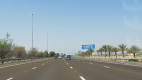 Dubai city road trip car ride day light 4k uae. Uae dubai city road trip car ride day light 4k stock video footage