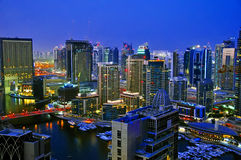 Dubai City Scape Night Scene 4 Stock Photo