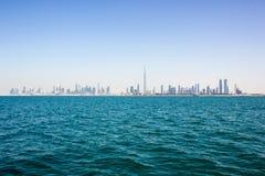 Dubai city sea view Stock Photography