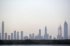 Dubai City Skyline Royalty Free Stock Photography