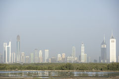Dubai City Skyline. In day Royalty Free Stock Images