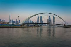 Dubai city skyline. In the daylight royalty free stock images