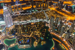 Dubai city skyline at night Royalty Free Stock Image
