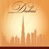 Dubai city skyline silhouette background. Illustration Royalty Free Illustration