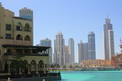 Dubai city skyscrapers Royalty Free Stock Images