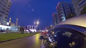 Dubai  city street view from car stock video