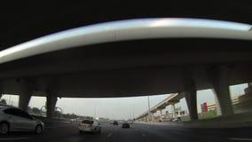 Dubai  city street view from car stock footage