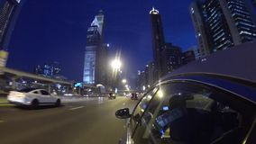 Dubai  city street view from car stock video footage